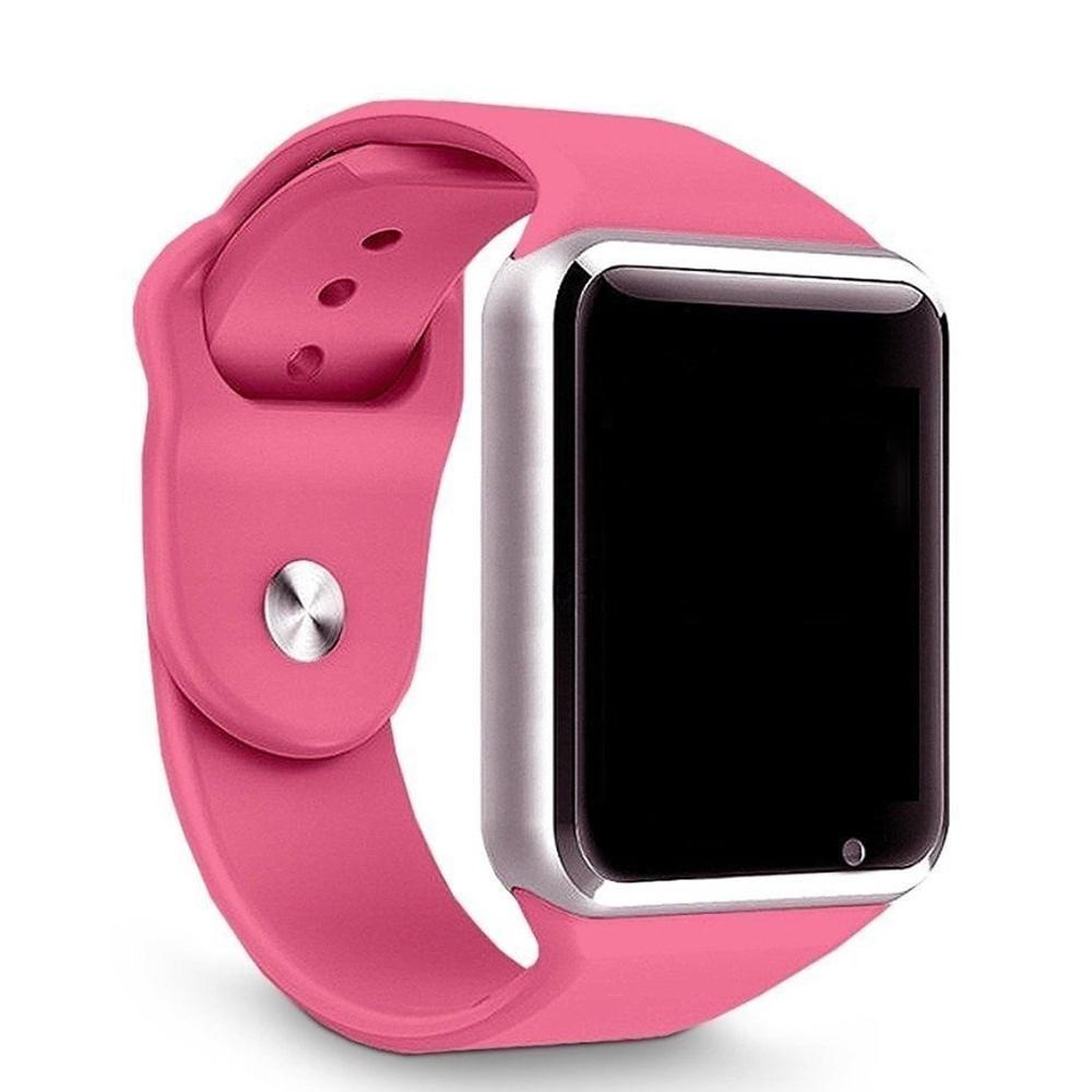 Relogio SmartWatch A1 Bluetooth Camera Celular Chip Cartao Musica - Rosa