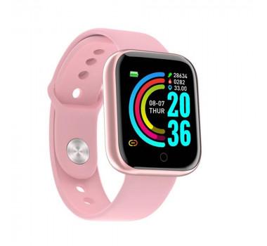 Relógio Inteligente Smartwatch D20 Pedômetro Multi-esportes Km Kcal Monitorador de Sono - Rosa